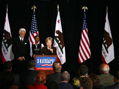 Hillary Clinton campaigns at Laney College.